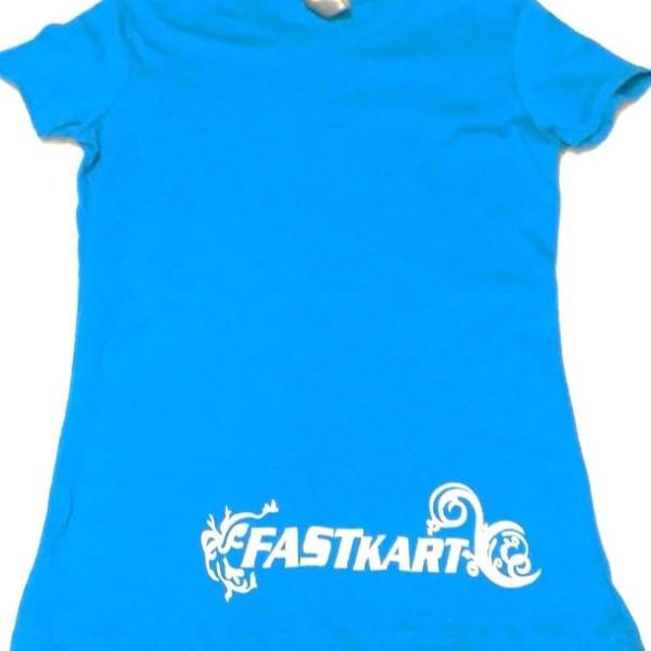 F007 WOMENS BLUE T-SHIRT