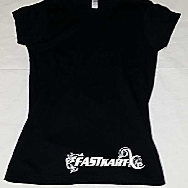F011 Womens Black T-shirt