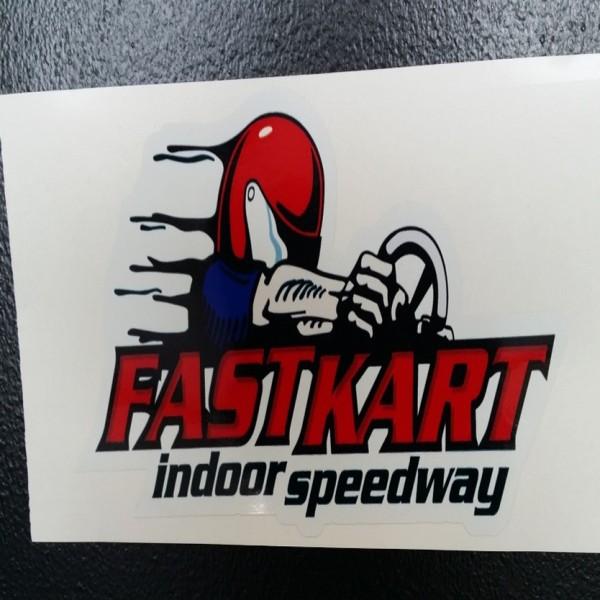 F013 Fastkart Sticker 8 W x 3.8 H